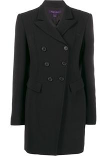Ralph Lauren Collection Long Double-Breasted Blazer - Preto