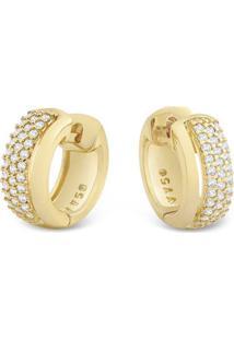 Argola Ouro Amarelo E Diamantes