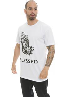 Camiseta Manga Curta The Garage Custom Tees Blessed Branco