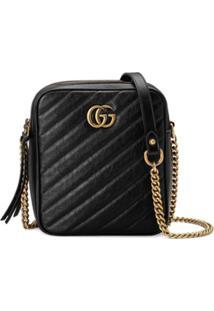14f520d15 ... Gucci Bolsa Tiracolo Gg Marmont Mini - Preto