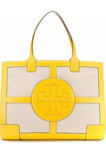 Tory Burch Bolsa Tote Com Patch De Logo - Amarelo