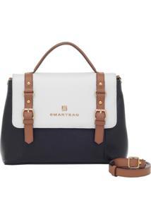 Bolsa De Couro Smartbag Tricolor