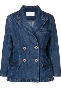 Matthew Adams Dolan Jaqueta Jeans Com Abotoamento Duplo - Azul