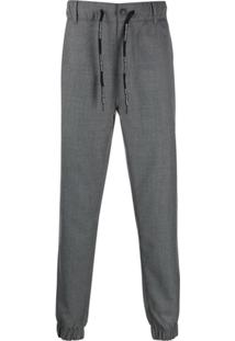 Calvin Klein Jeans Logo Drawstring Jogger Trousers - Cinza