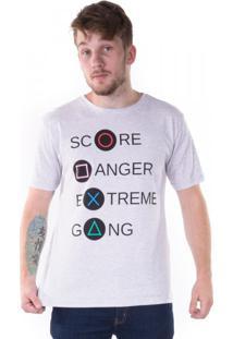 Camiseta Play Game Mescla Branca
