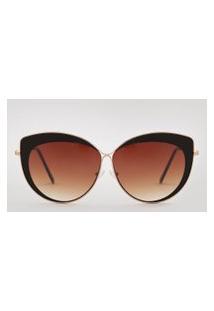 Óculos De Sol Gatinho Feminino Oneself Dourado