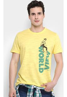 Camiseta Colcci Estampada World View Masculina - Masculino