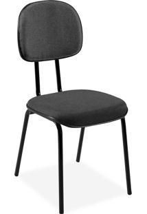 Cadeira Secretã¡Ria Injetada Base Fixa Tu Cinza - Cinza - Dafiti