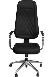 Cadeira Pethiflex Pp-01Gcbc Giratória Couro Preto