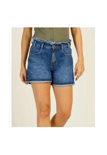 Bermuda Jeans Feminina Bolsos Marisa