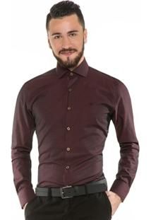 Camisa Hugo Rossi Duo Cr Bordô - Masculino