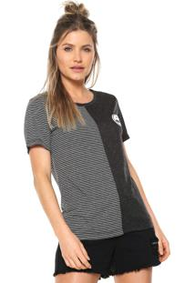 Camiseta Volcom Colder Shoulder Preta/Branca