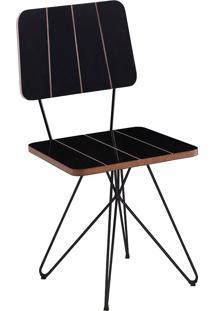 Cadeira Costela Butterfly-Daf Mobiliário - Preto