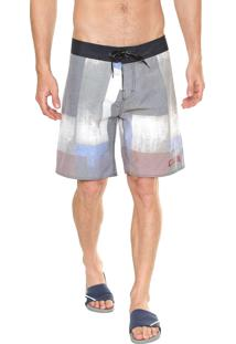 Bermuda Água Calvin Klein Underwear Estampada Cinza