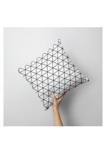 Capa De Almofada Avulsa Decorativa Full Geométrico 45X45Cm