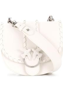 Pinko Bolsa Tiracolo Com Detalhe Trançado - Branco