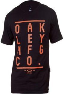 Camiseta Oakley Kerning Tee Masculina - Masculino-Preto