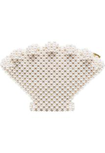 Shrimps Clutch Com Contas - Cream