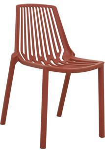 Cadeira Morgana Vermelho Telha Rivatti Móveis