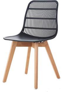 Cadeira Angelita Preta Pes Madeira - 50053 - Sun House