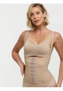 Cinta Modeladora Cotton Esbelt Feminina - Feminino-Bege