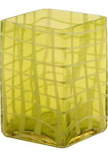Vaso De Vidro Decorativo Green Check Pequeno