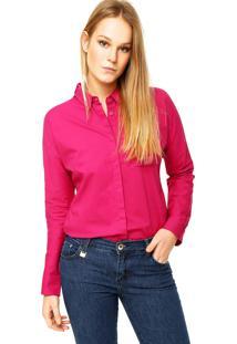 Camisa Manga Longa Forum Fenda Rosa