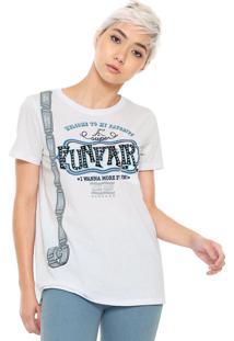 Camiseta My Favorite Thing(S) Com Bolso Branca