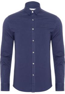 Camisa Masculina Ckj Logo - Azul