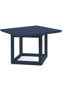 Mesa Lateral Quadrada Square Azul Marinho