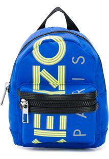 Kenzo Mochila Pequena Com Logo - Azul