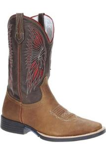 Bota Couro Country West Country Masculina - Masculino-Marrom
