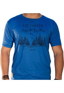 Camiseta Masculina Eco Canyon Draw Camp Azul