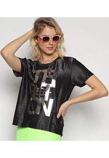 Camiseta Triton Estampada Feminina - Feminino-Estampado