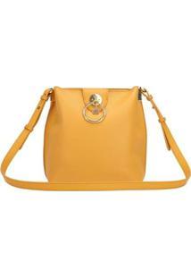 Bolsa Flat Ana Hickmann Feminina Transversal Casual Moderna - Feminino-Amarelo