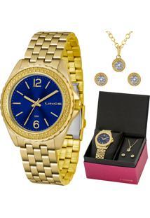 Kit Relógio Lince Feminino Colar E Brincos Lrg4556Lkv06D2Kx