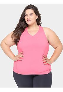 Regata Plus Size Gonew Feminina - Feminino-Rosa Escuro