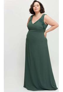 Vestido Longo Almaria Plus Size Pianeta C/ Capa Re