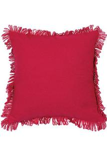 Capa Para Almofada Campestre Solid- Vermelha- 40X40Cartesanal