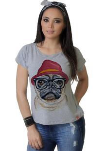 Camiseta Wevans Dog Pug Fashion Mescla
