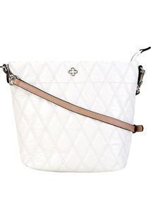 Bolsa Couro Capodarte Shoulder Bag Matelassê Feminina - Feminino-Off White