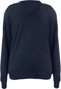 Suéter Alma De Praia Elgort Gola V - Masculino-Azul