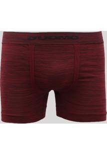 Cueca Boxer Masculina Mescla Sem Costura D'Uomo Vinho
