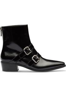 Prada Ankle Boot Com Fivela - Preto