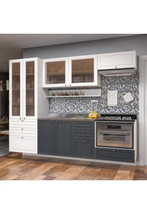 Cozinha Completa 10 Peã§As Americana Multimã³Veis 5663Smf Branco/Grafite - Branco/Incolor - Dafiti