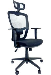 Cadeira Office Presidente Byartdesign Turim Preto - Preto - Dafiti