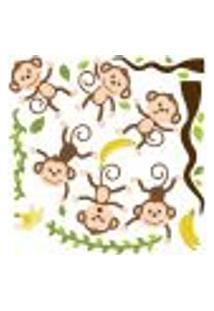 Adesivo De Parede Quarto Infantil Macacos Amigos
