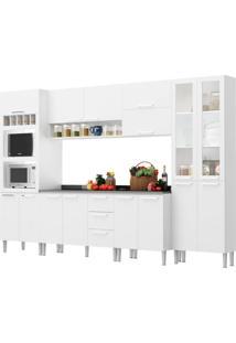 Cozinha Rafaela Branco C/ Tampo Genialflex Móveis