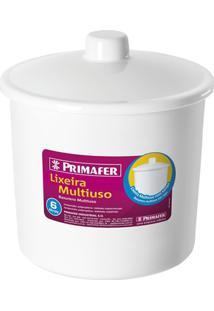 Lixeira Em Polipropileno Multiuso 6 Litros Branca