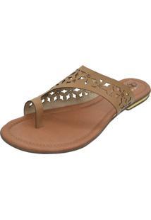 Sandália Romântica Calçados Laser Caramelo - Kanui
